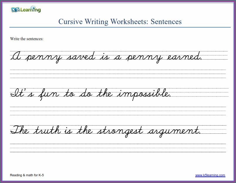 2nd Grade Print Handwriting Worksheets Pdf