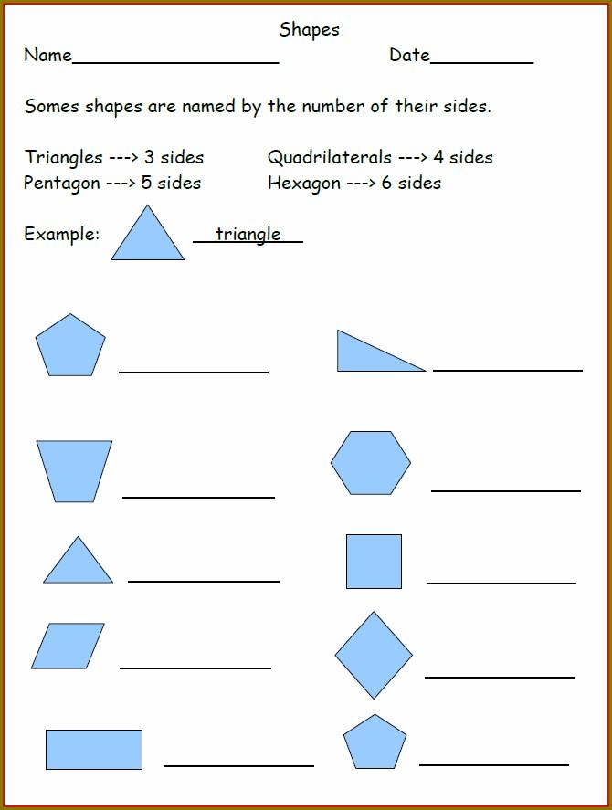 2nd Grade Quadrilateral Worksheet
