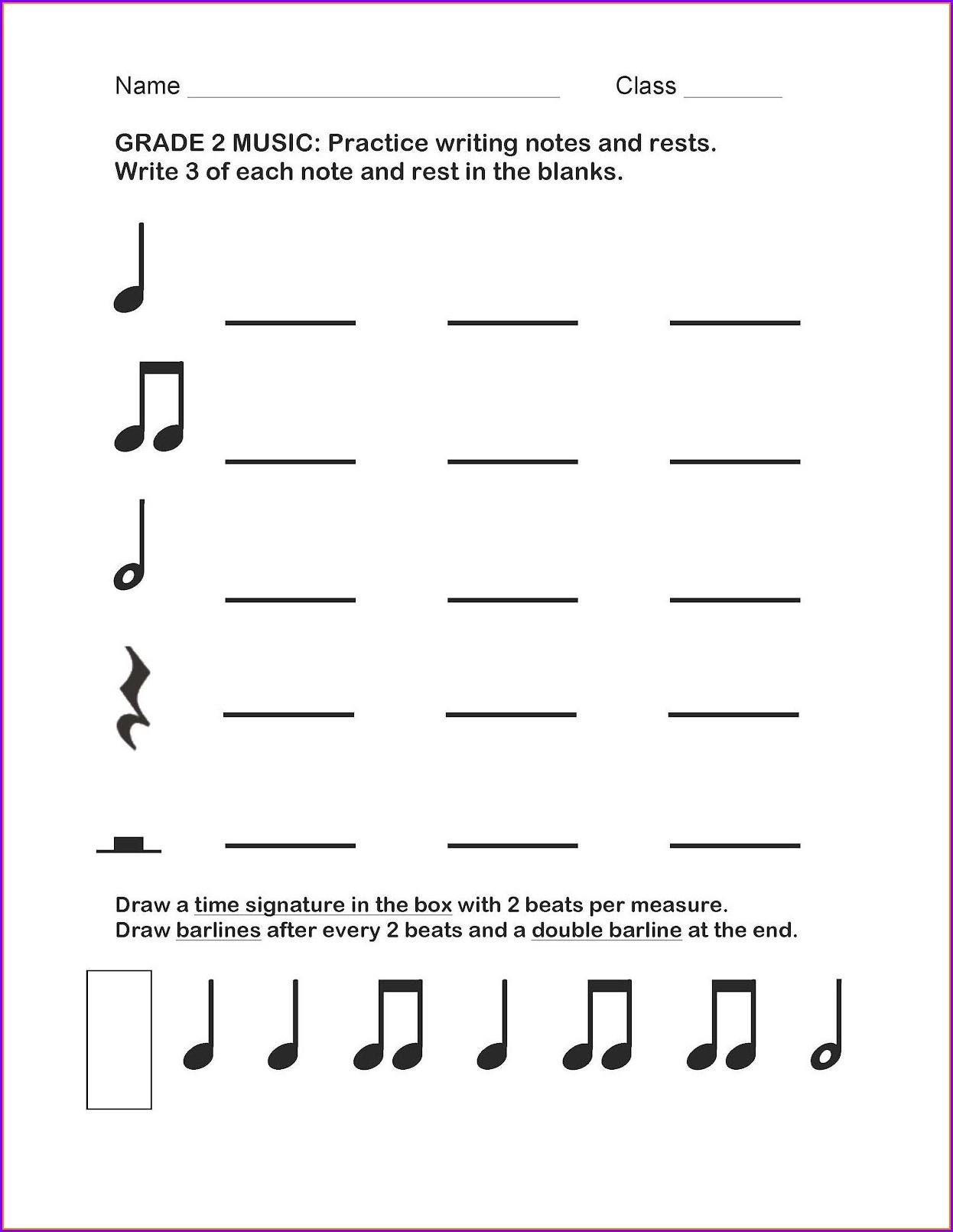 2nd Grade Rhythm Worksheet