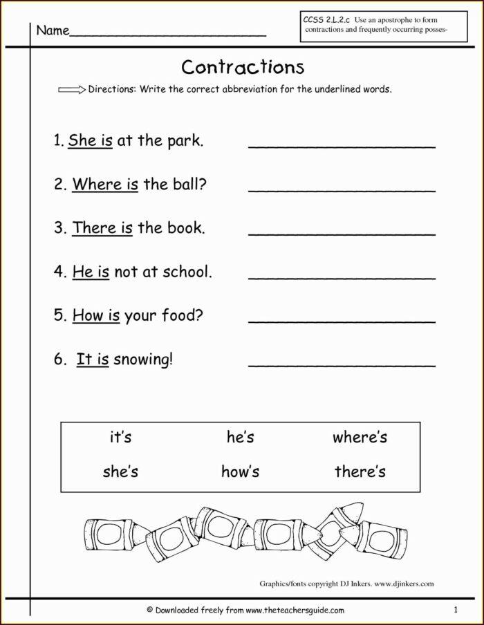 2nd Grade Science Worksheets For Kids