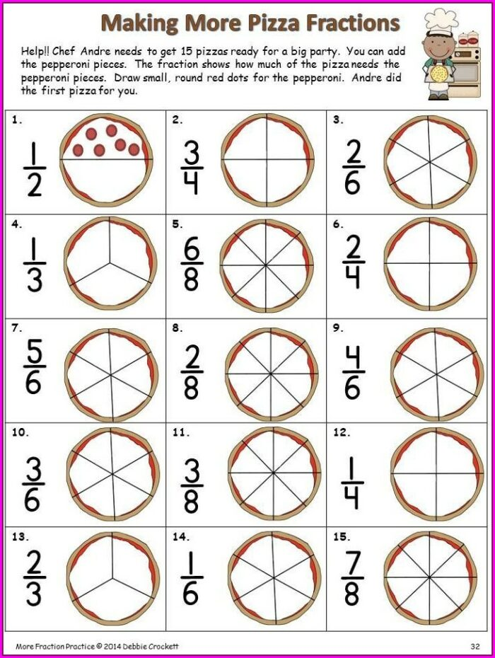2nd Grade Third Grade Fractions Worksheets