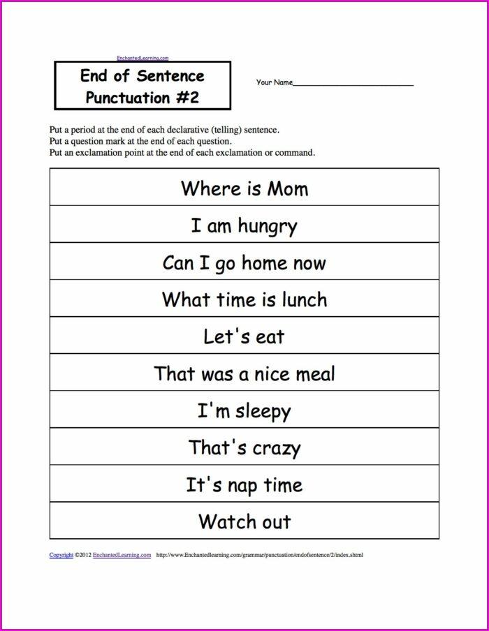 2nd Grade Worksheet On Commas