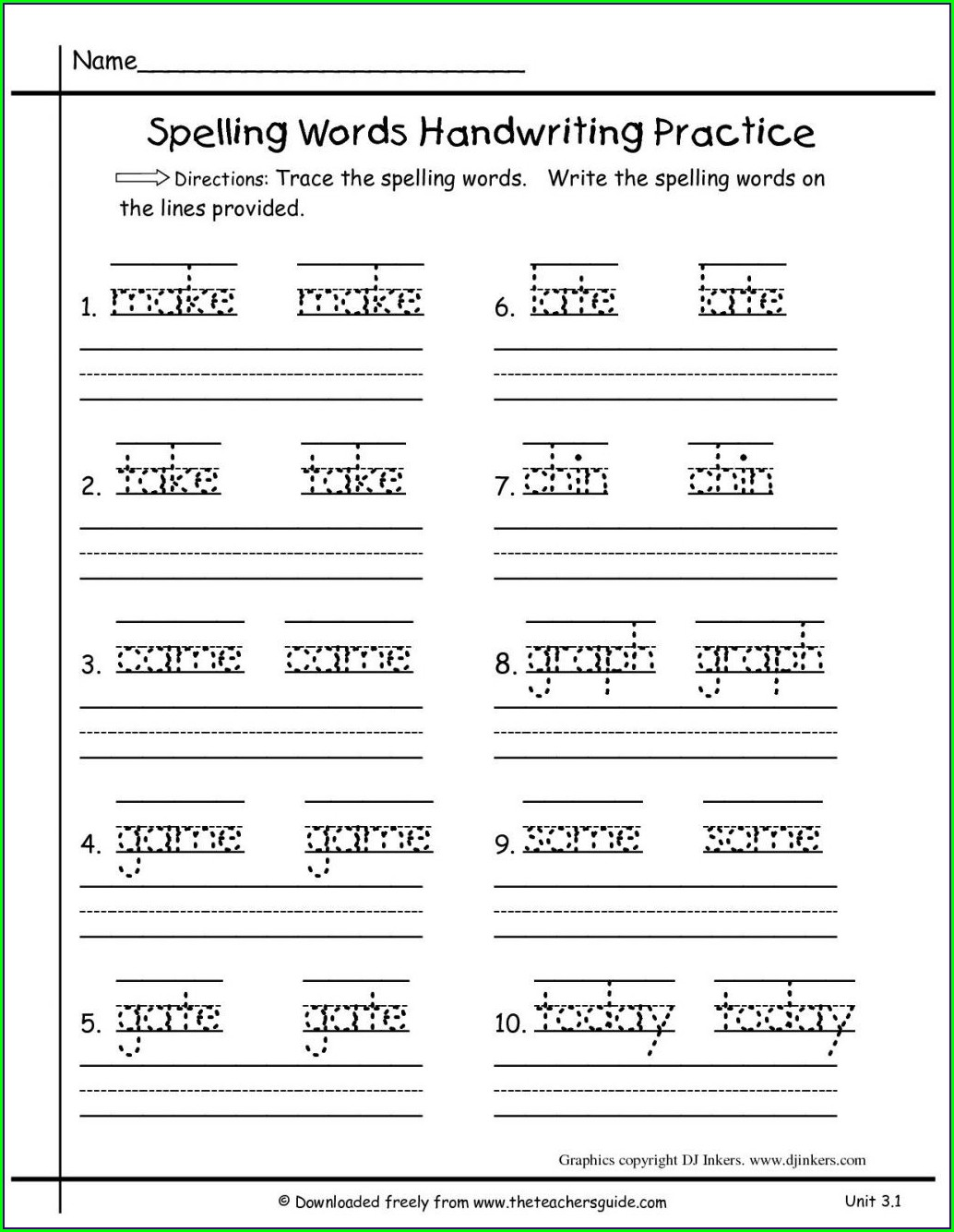 2nd Grade Worksheets Language Arts
