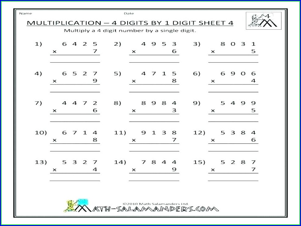 3 Digit Multiplication Without Regrouping Worksheets