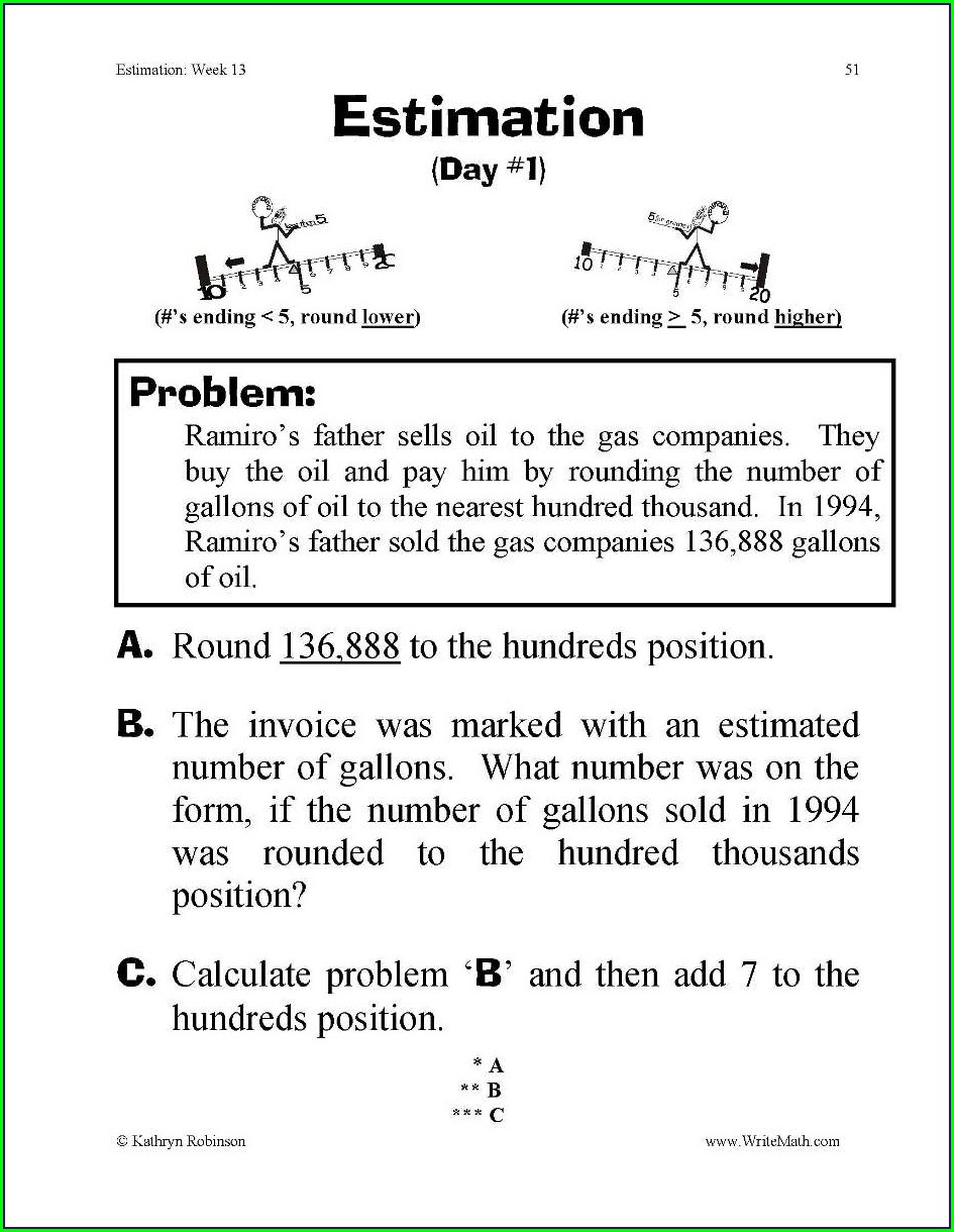 3rd Grade Estimation Worksheets