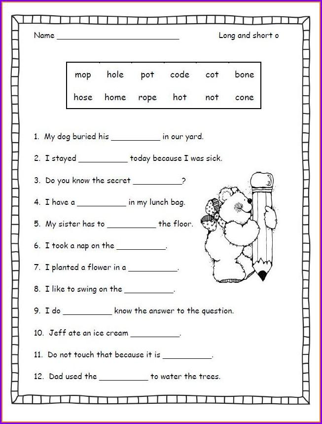 3rd Grade Vowel Consonant E Worksheets