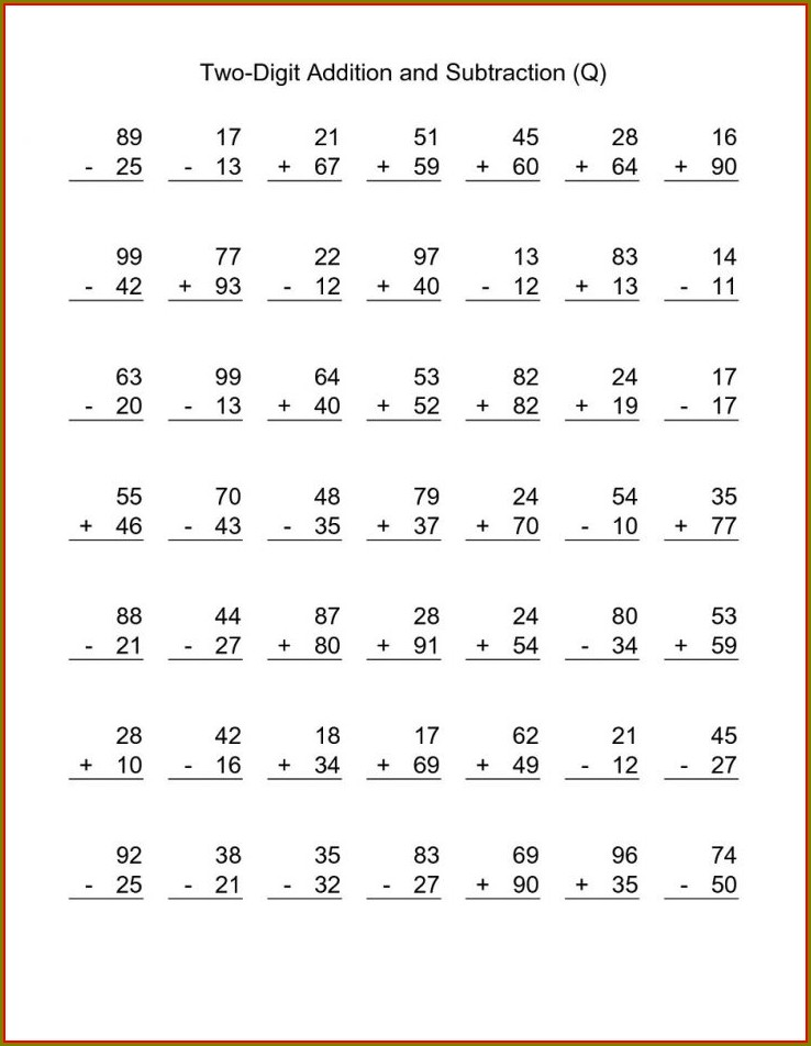 3rd Grade Worksheets For Math