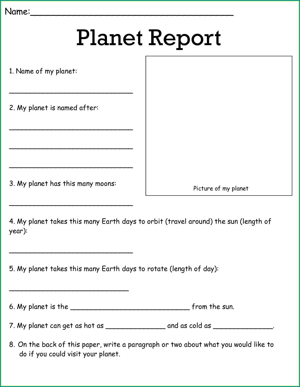 5th Grade Free Science Worksheets