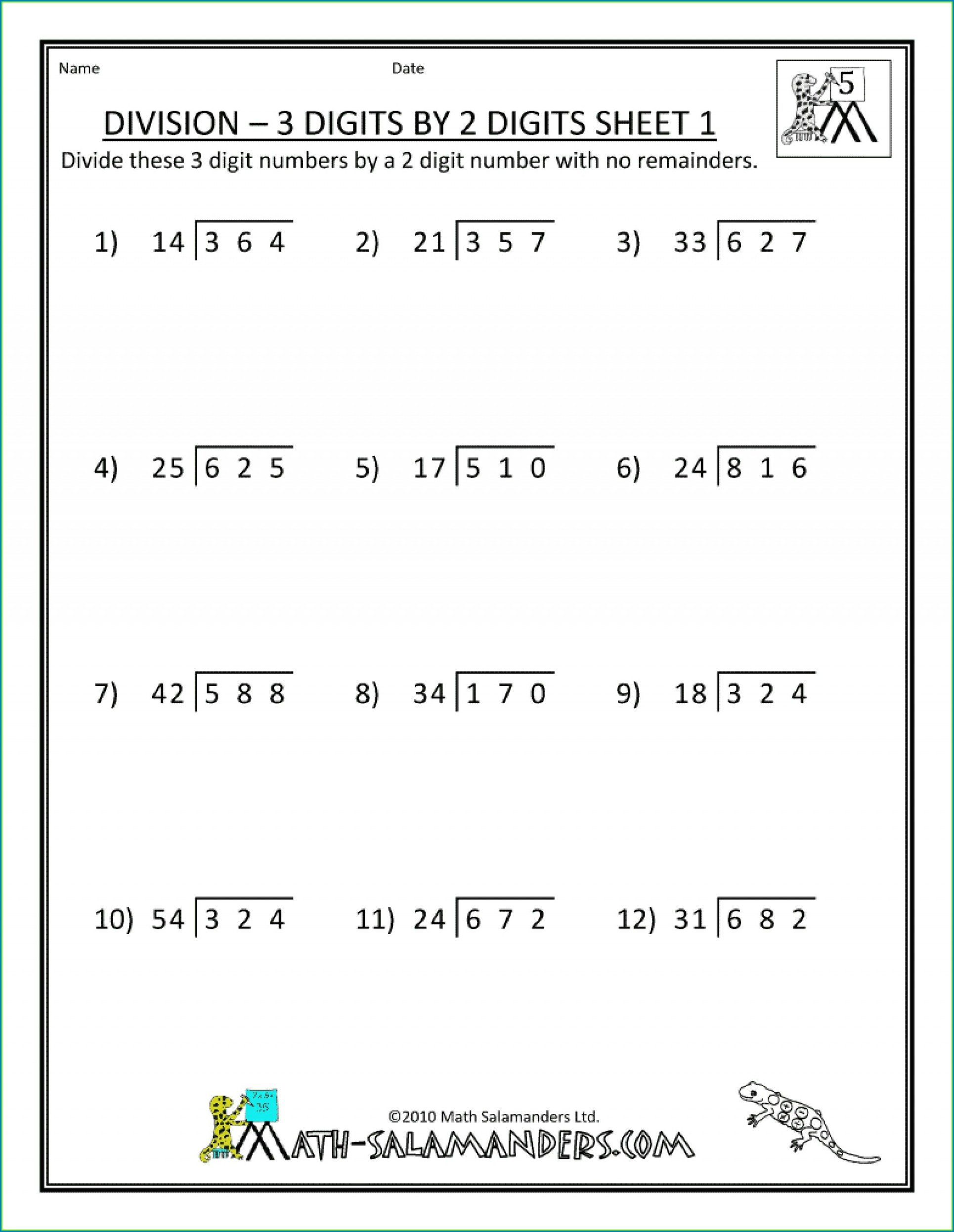 5th Grade Math Word Problems Worksheets With Answers