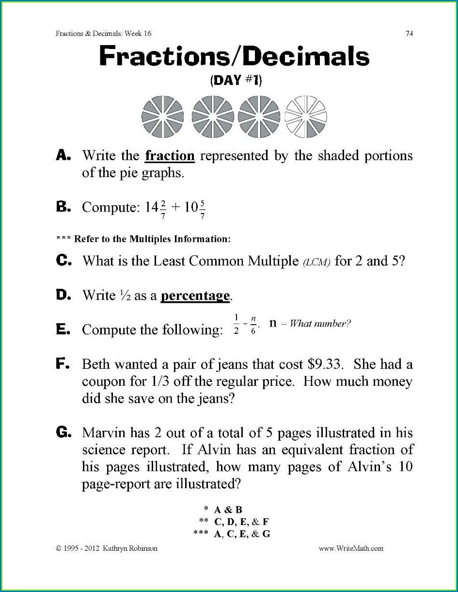 5th Grade Reducing Fractions Worksheet
