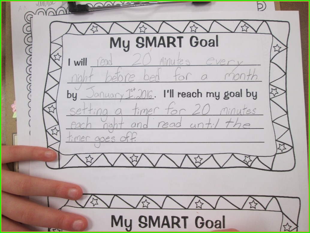 6th Grade Goal Setting Worksheet For Middle School