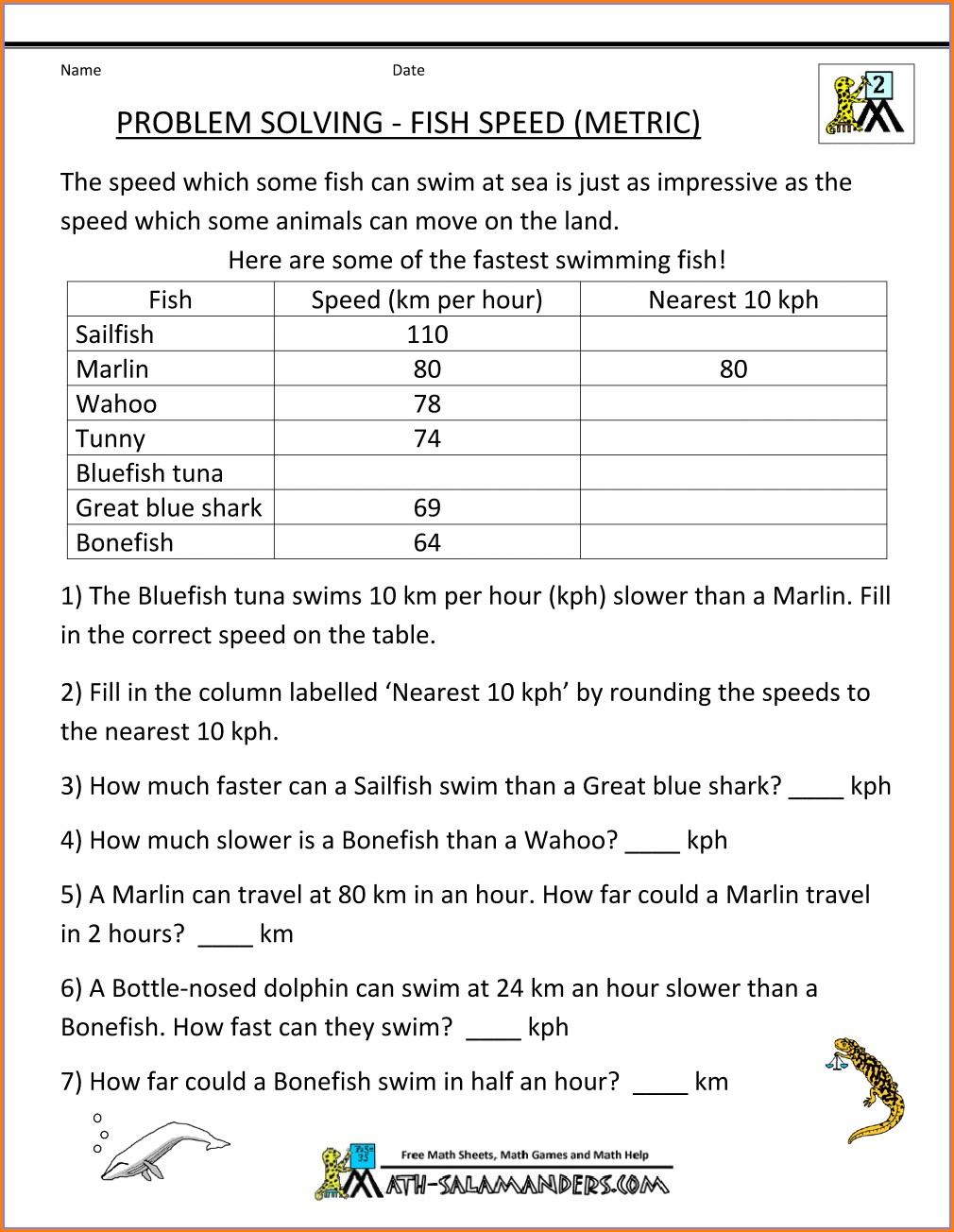 6th Grade Integers Word Problems Worksheet