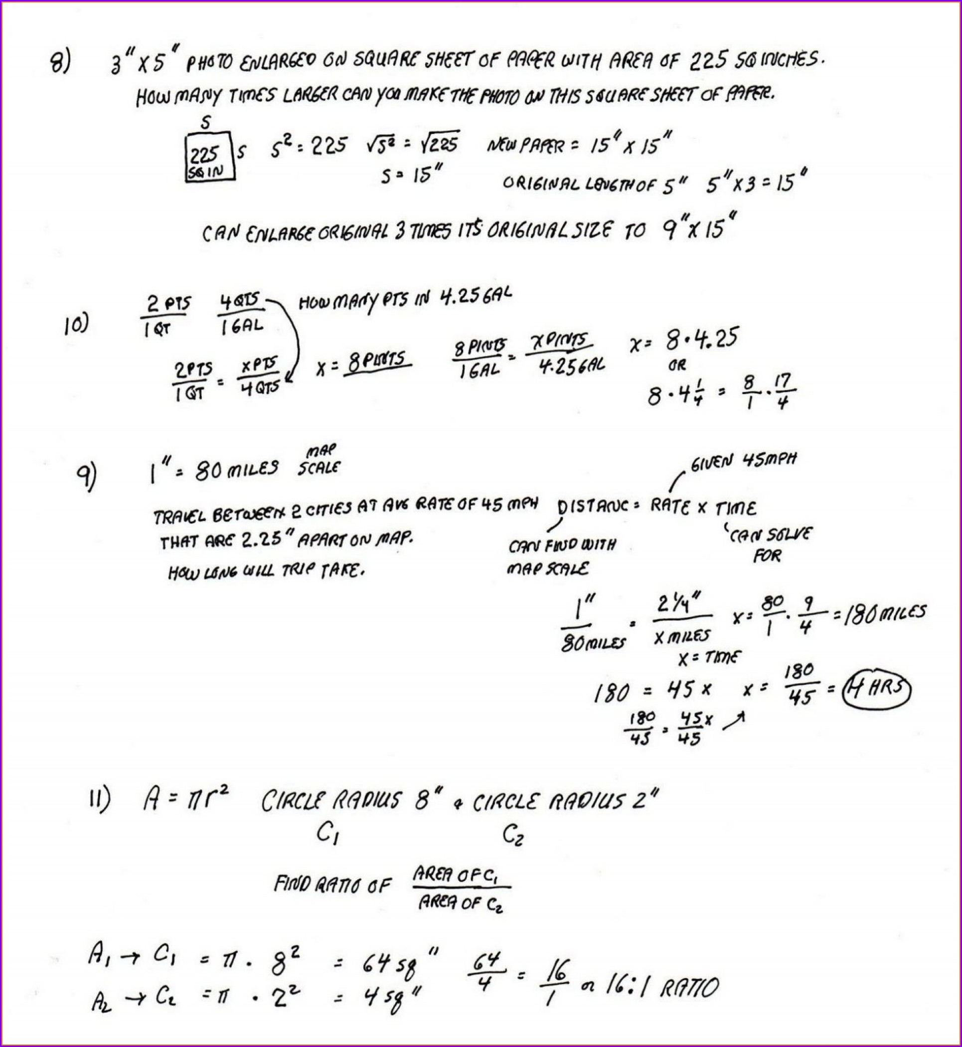 6th Grade Math Word Problems Worksheets With Answers Pdf