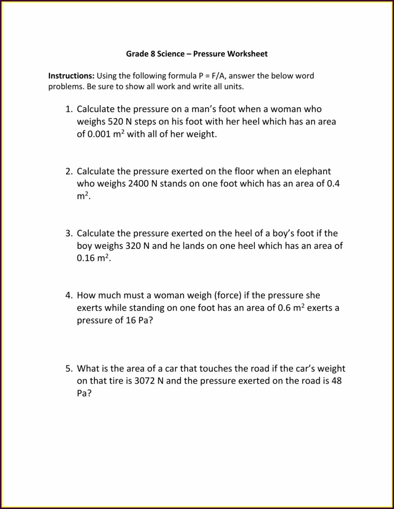 8th Grade Science Density Worksheet