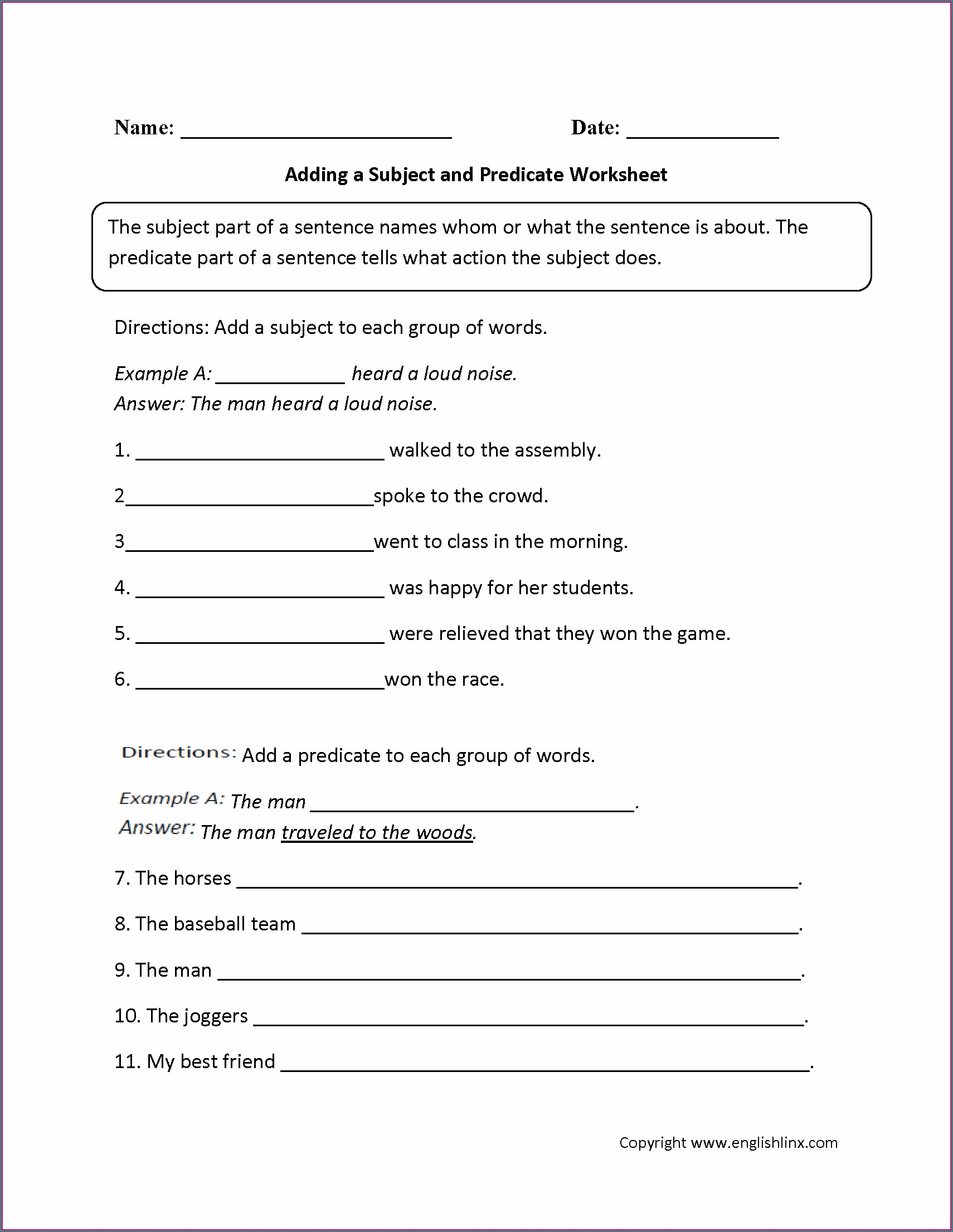 Adding Descriptive Words To Sentences Worksheets