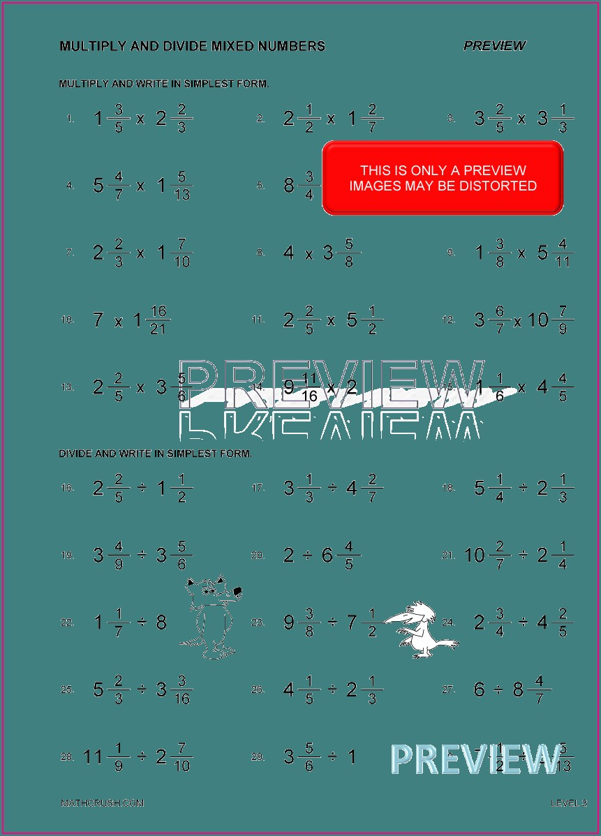 Adding Fractions With Whole Numbers Worksheets With Answers