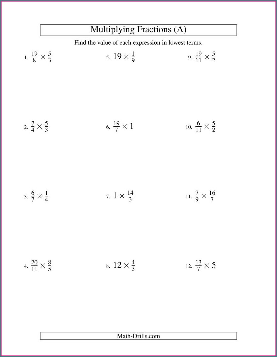 Adding Fractions With Whole Numbers Worksheets