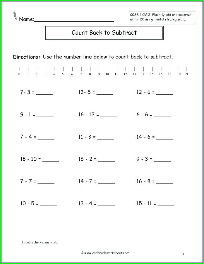 Adding Integers On A Number Line Worksheet