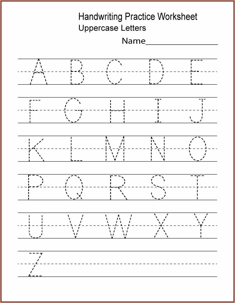 Alphabet Free Printable Worksheets For Preschool