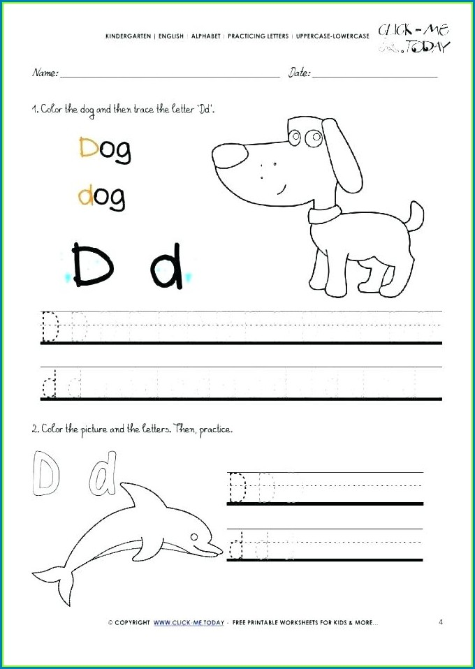 Alphabet Kindergarten Worksheets English Pdf
