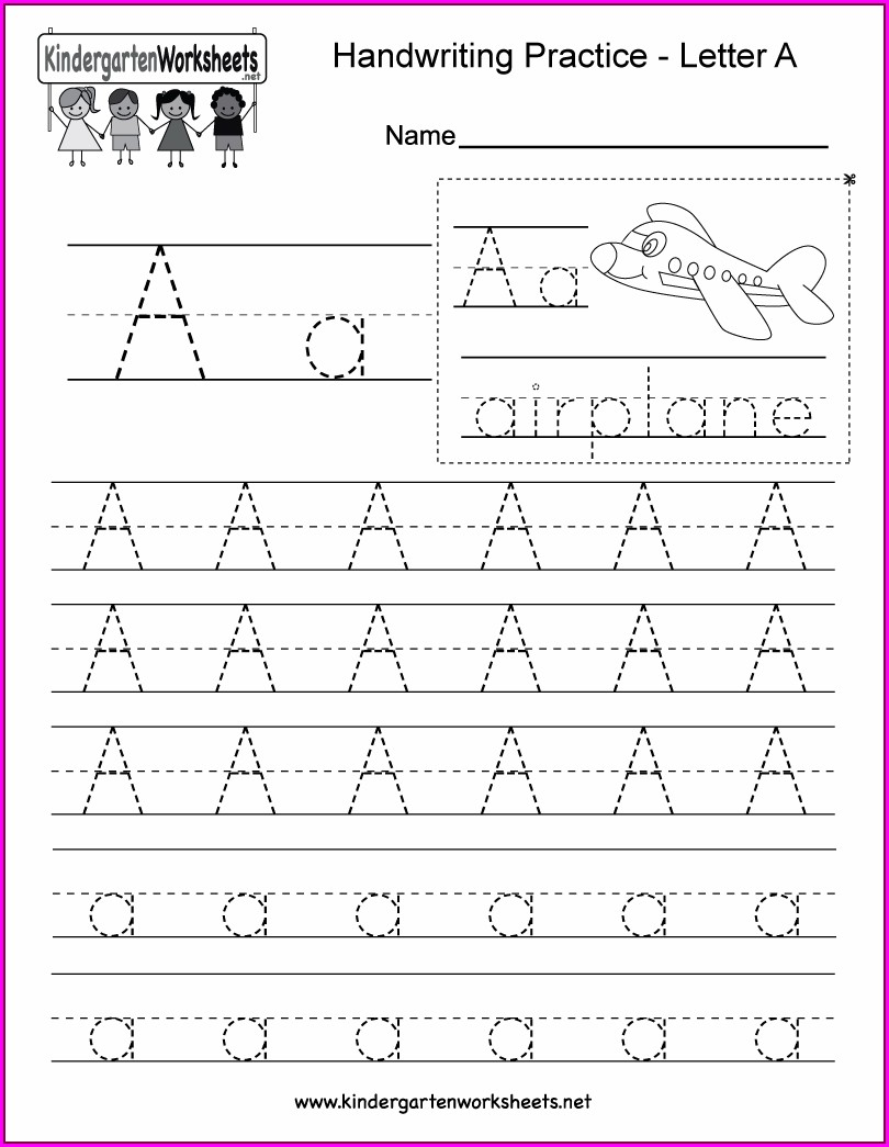 Alphabet Writing Worksheet For Kindergarten