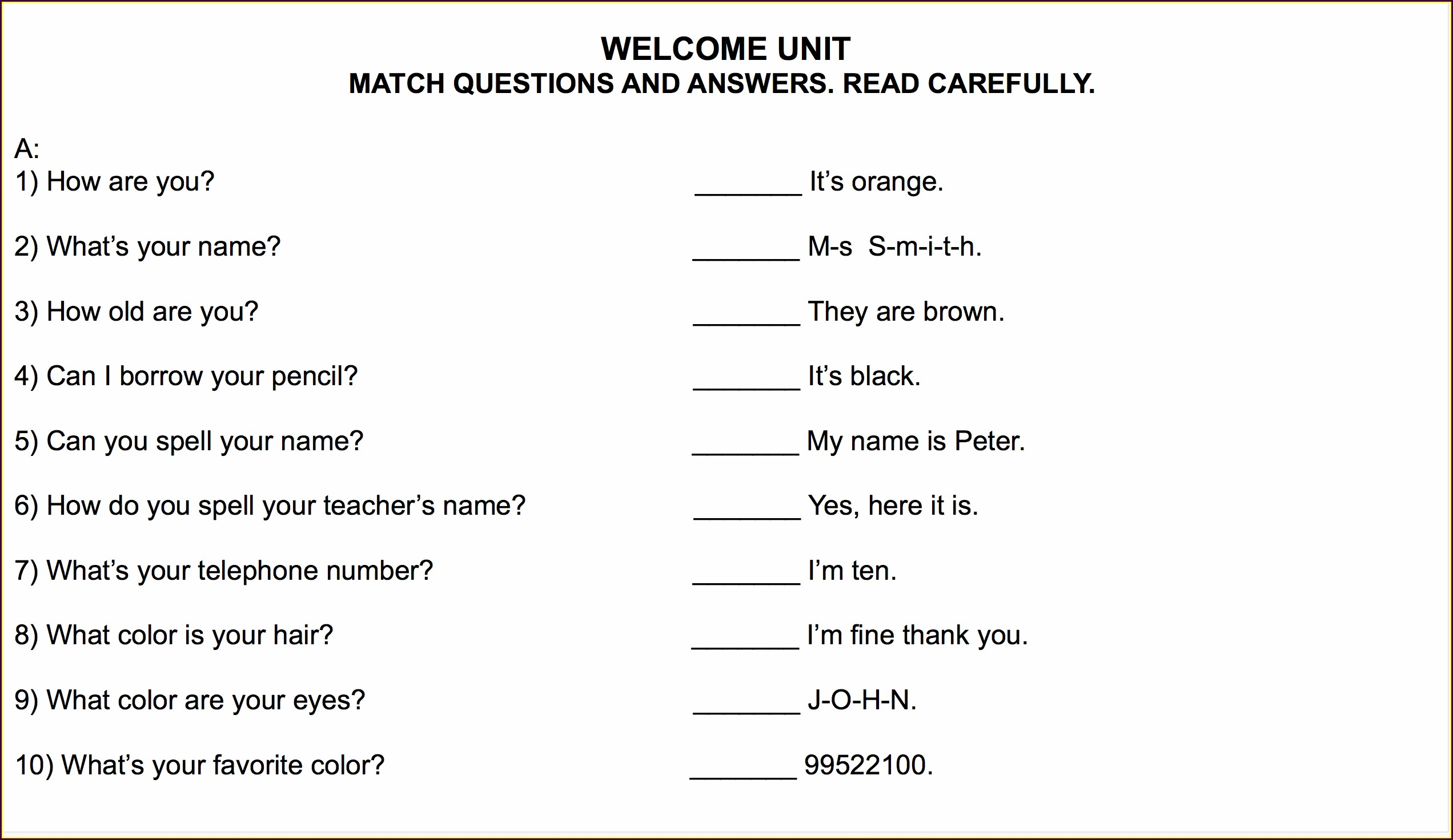 Answer Key Grade 7 English Worksheets With Answers