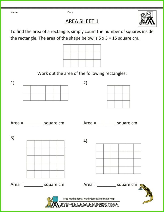 Area Of Irregular Figures Worksheet 3rd Grade