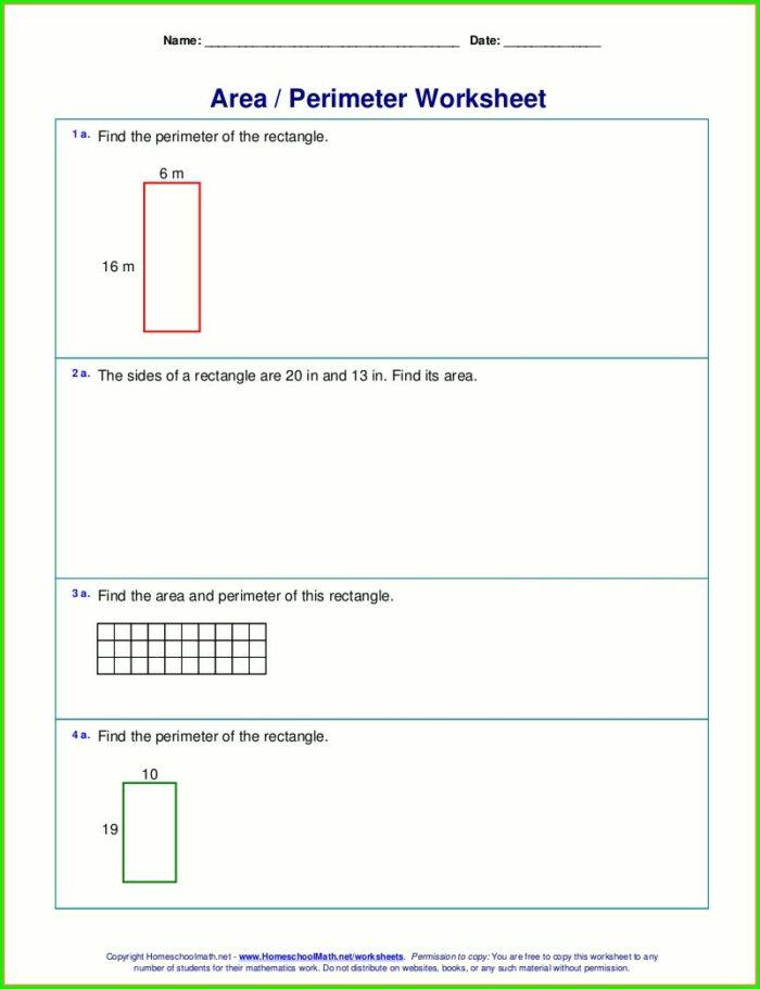 Area Word Problems 3rd Grade Worksheet