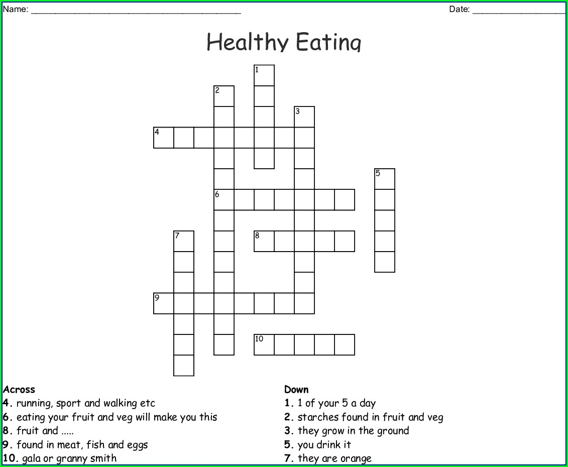 Balanced Diet Healthy Eating Word Search Printable