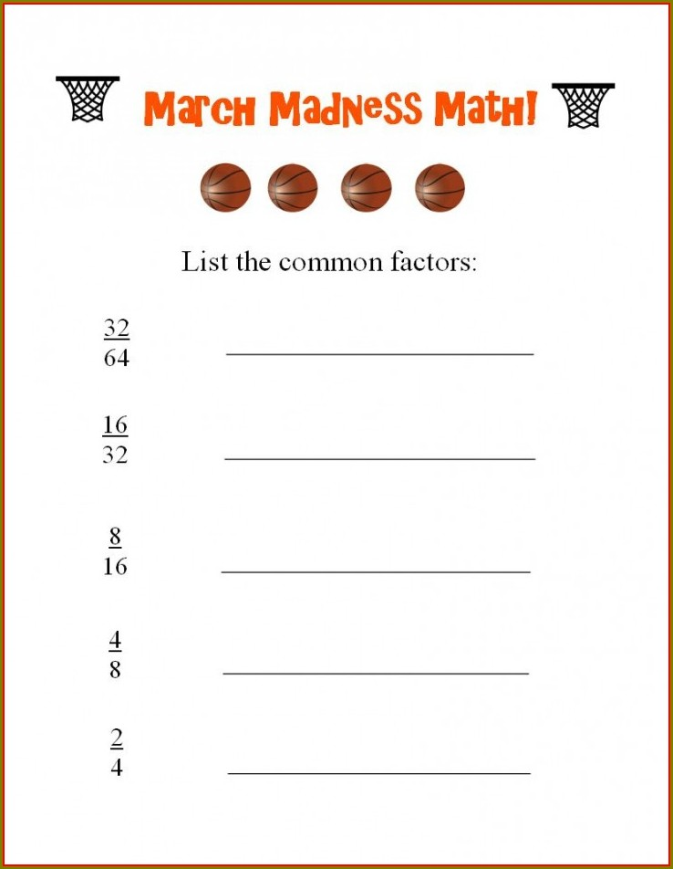 Basketball Math Word Problems Worksheets