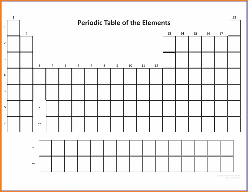Blank Periodic Table Of Elements Worksheet Answers