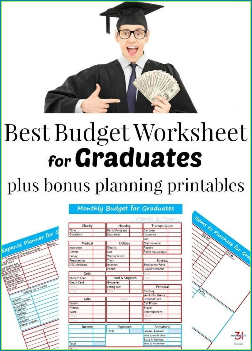 Budget Worksheet For Graduates