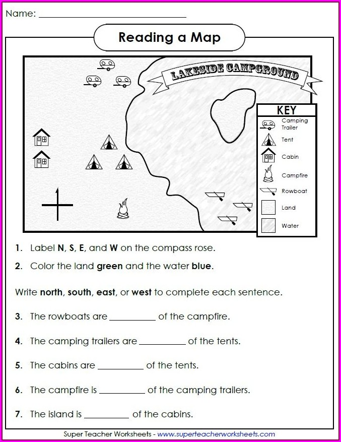 Cardinal And Intermediate Directions Worksheet Pdf