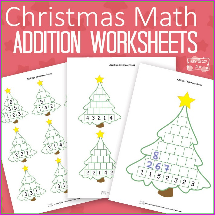 Christmas Math Coloring Printables