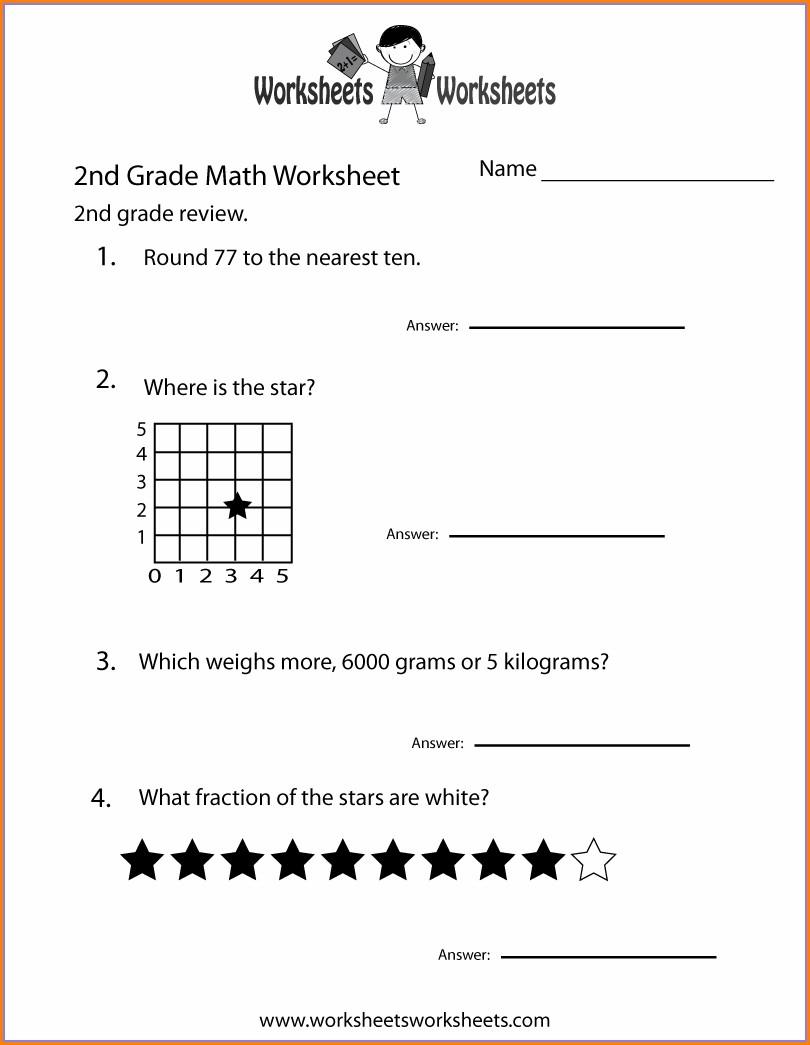 Christmas Math Worksheet For Second Grade