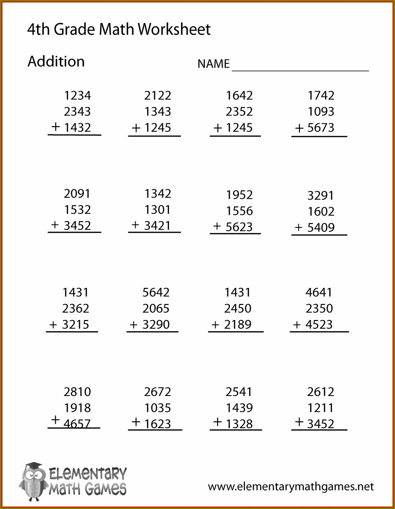 Christmas Math Worksheet Fourth Grade
