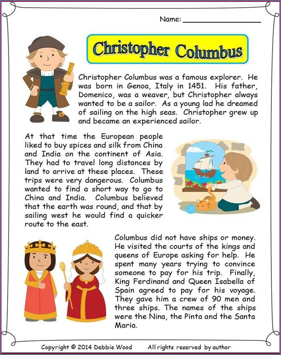 Christopher Columbus Lessons For 2nd Grade