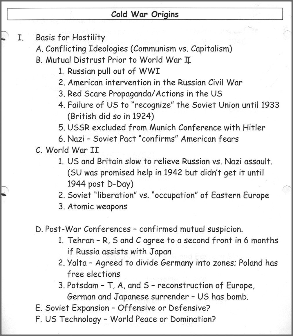 Cold War Timeline Worksheet Pdf