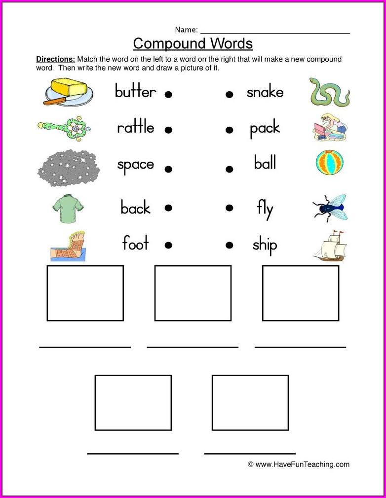 Compound Word Worksheet For Grade 1