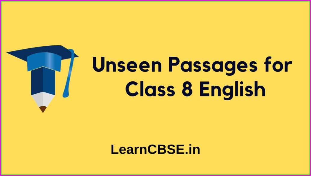 Comprehension Passages For Class 3 Worksheets