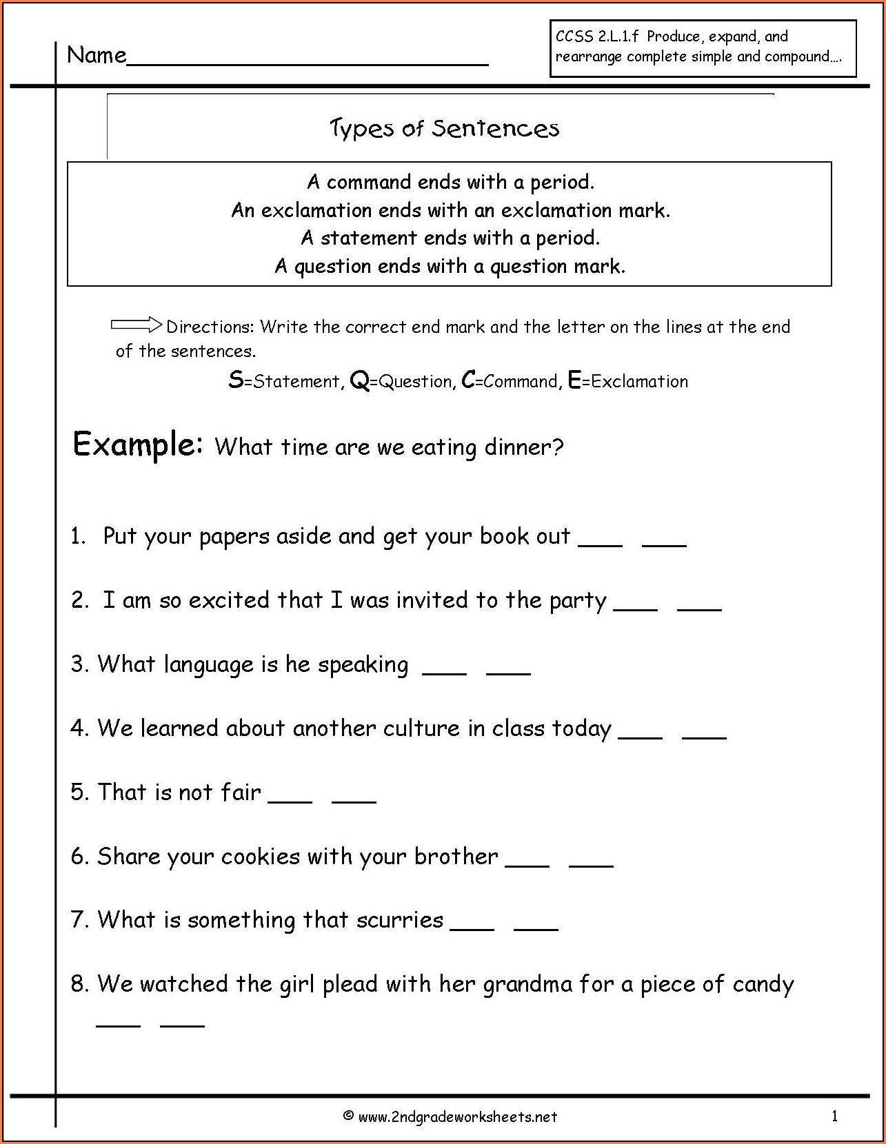 Comprehension Reading Worksheets For 2nd Grade