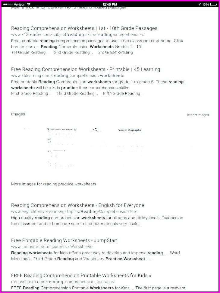 Comprehension Worksheets On Poetry