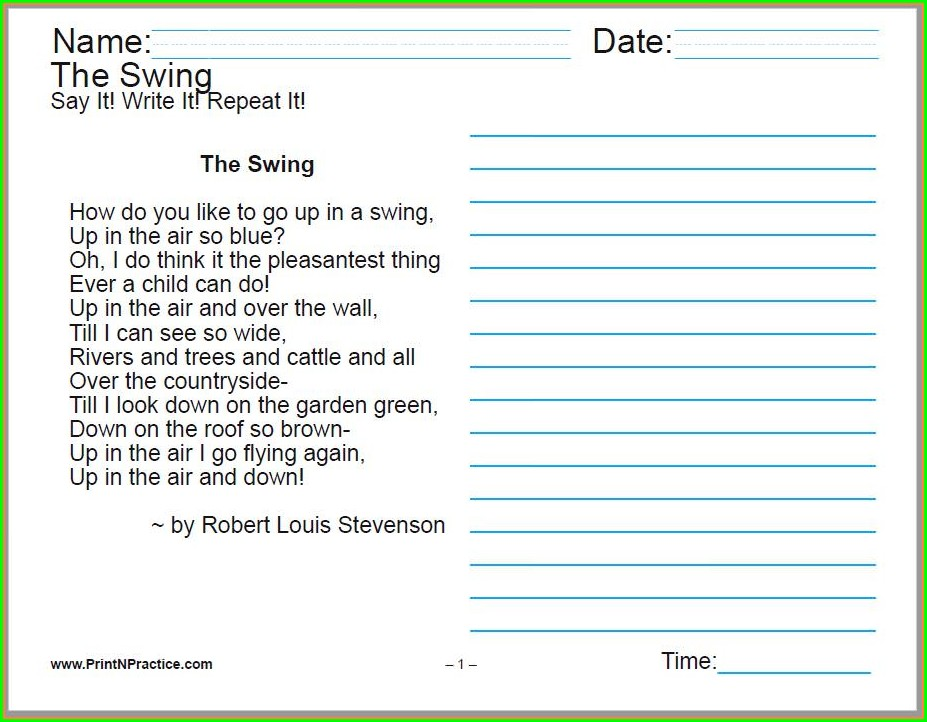Cursive Handwriting Worksheets For Older Students