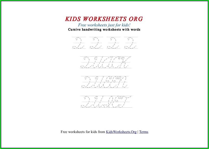 Cursive Letter Q Worksheet
