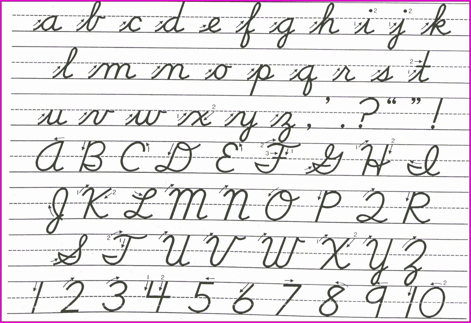 Cursive Writing Worksheet Generator Free