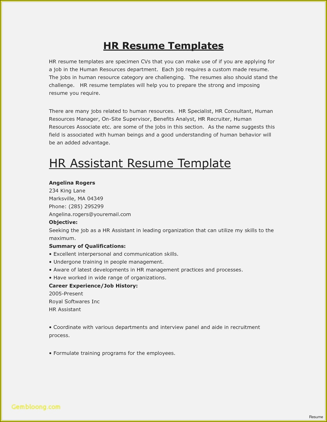 Customer Service Resume Templates Downloadable