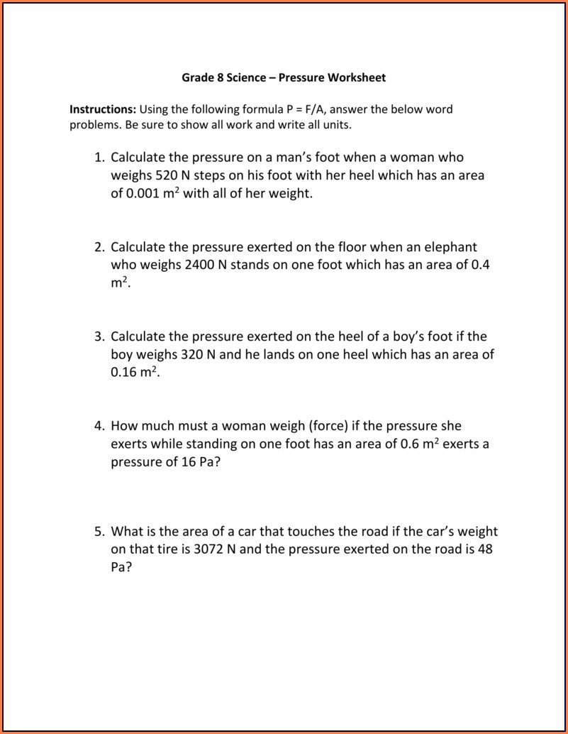 Density Worksheets For Grade 8