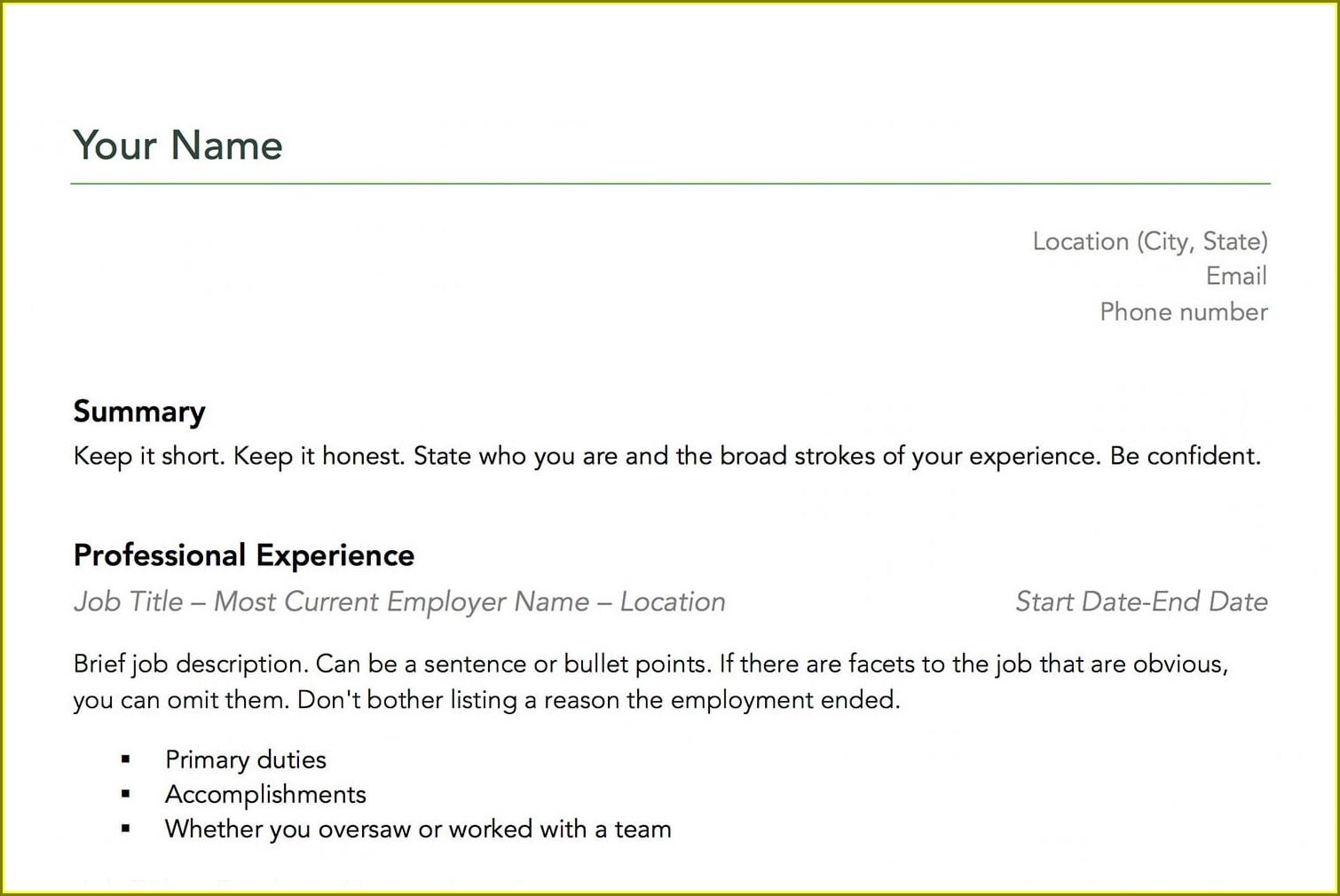 Download Microsoft Resume Builder