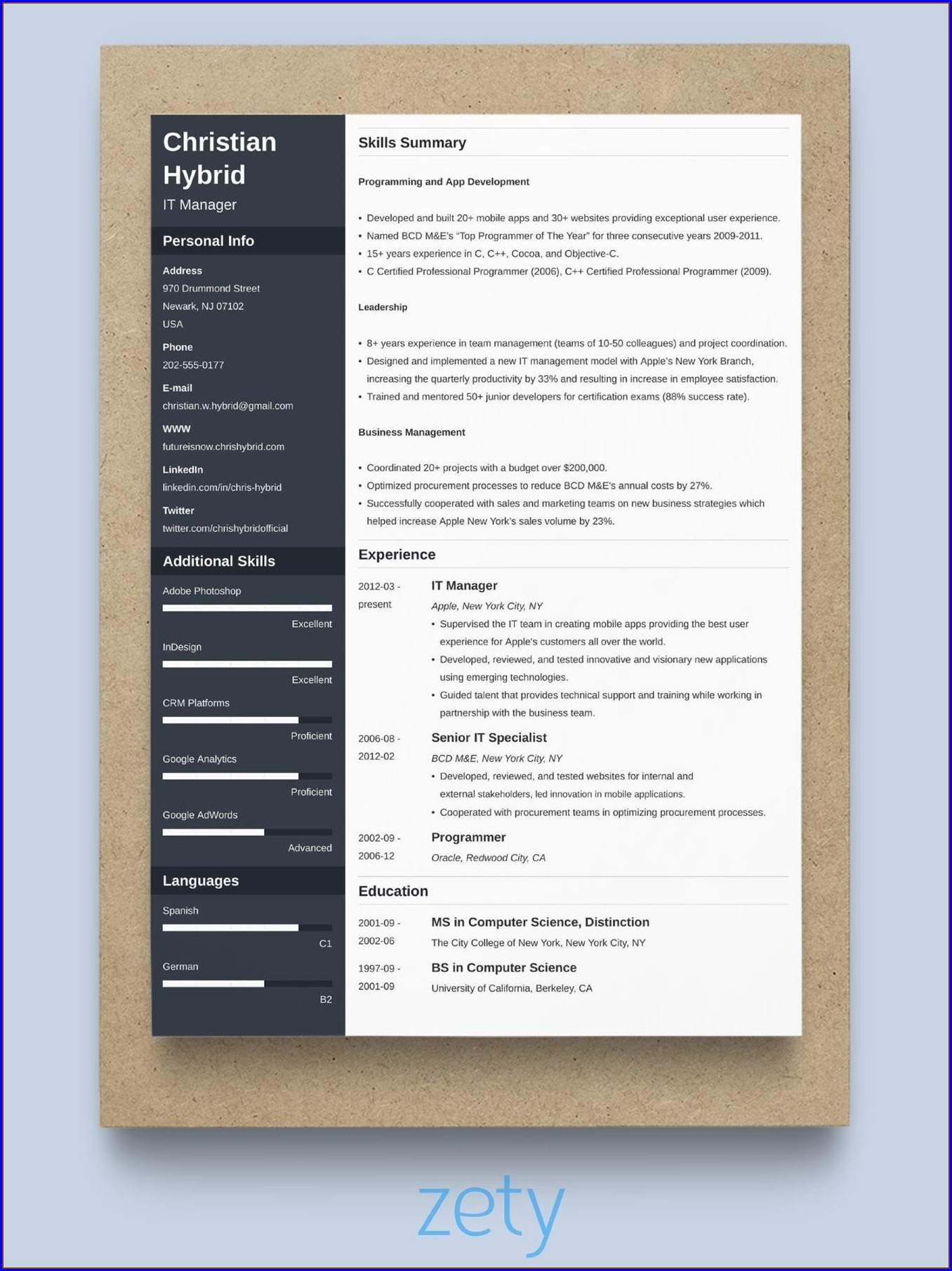 Download New Resume Format For Freshers