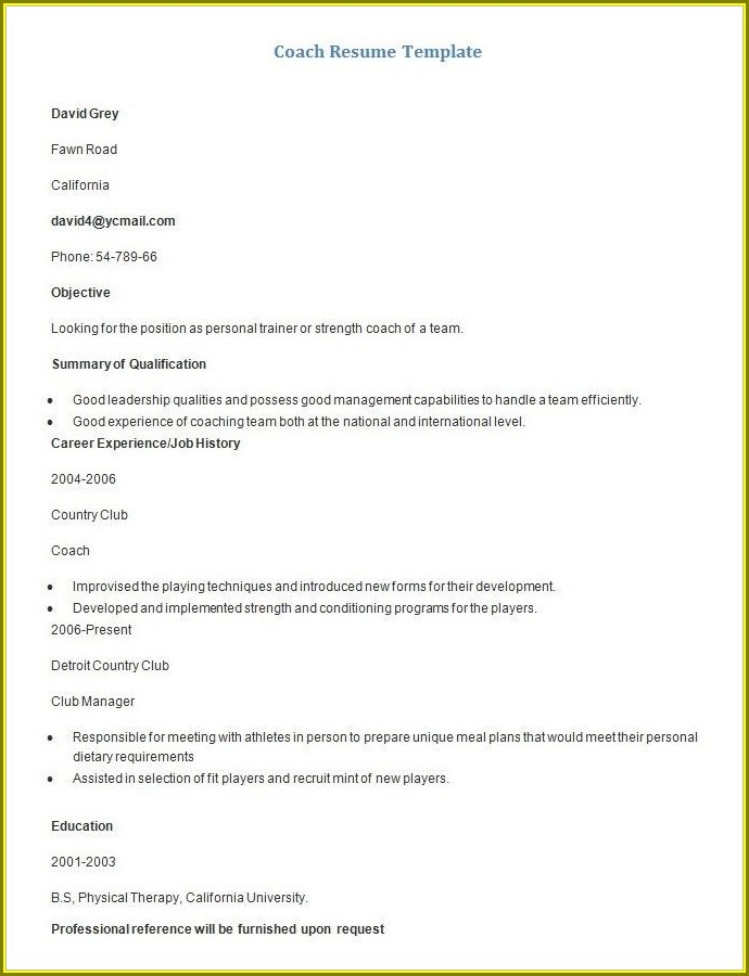 Downloadable Resume Templates Mac
